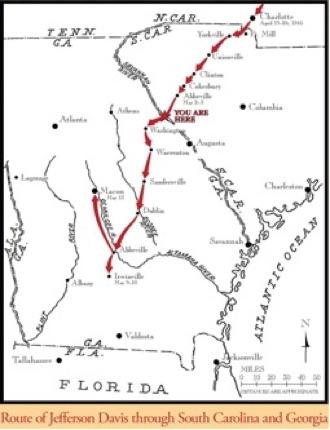Driving Map Of Georgia.Georgia Civil War Trailblazers Marking The Historic Routes
